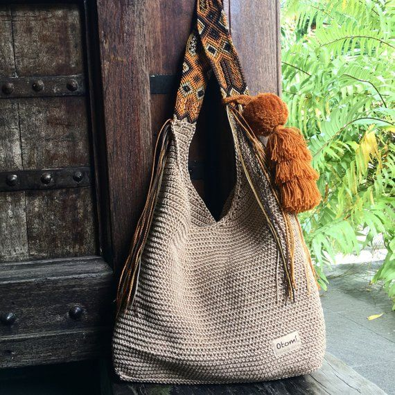 Luxe Tote in Burnt Orange Velvet or Chocolate Damask Fabric with Leather Strap and Waxed Canvas Bottom Luxury Fall Business Classic Tote
