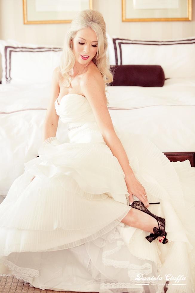 Vancouver Wedding photography, sutton place. Valentino shoes, Bisou Bridal