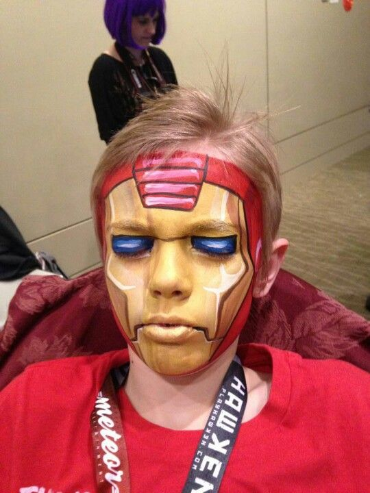 Dutch Bihary Iron Man face paint design. | Marvel-Inspired ...