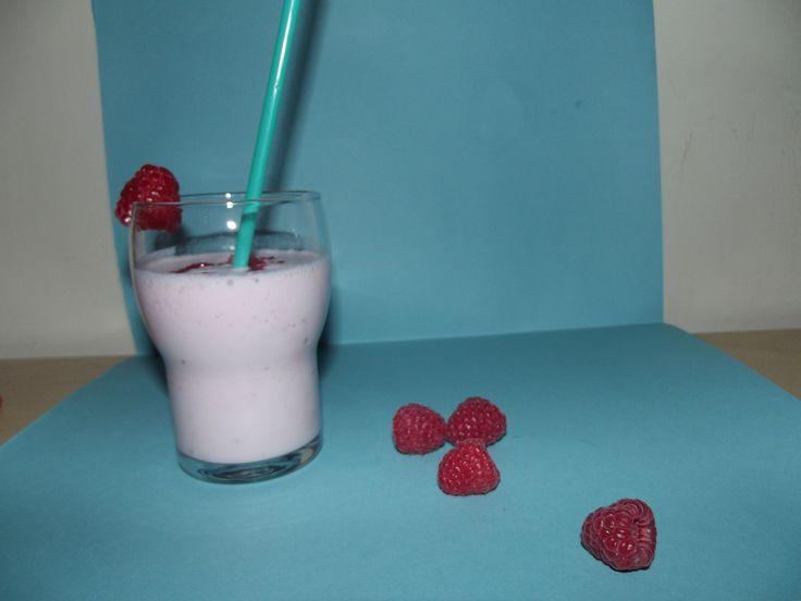 Batido de framboesa. Raspberry Milkshake