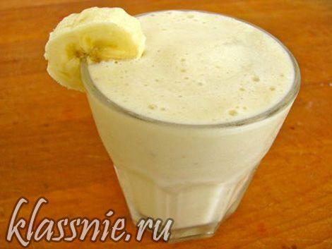 Банановый смузи за 3 минуты   Классные вегетарианские рецепты