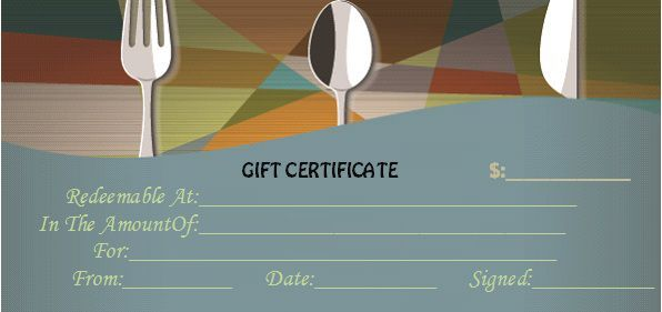 Restaurant Gift Certificate Templates Gift Tastefully To Your Loved Ones Template Sumo In 2021 Gift Certificate Template Certificate Templates Gift Certificates