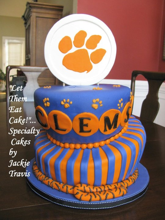1000 Images About Clemson Cakes On Pinterest Helmets