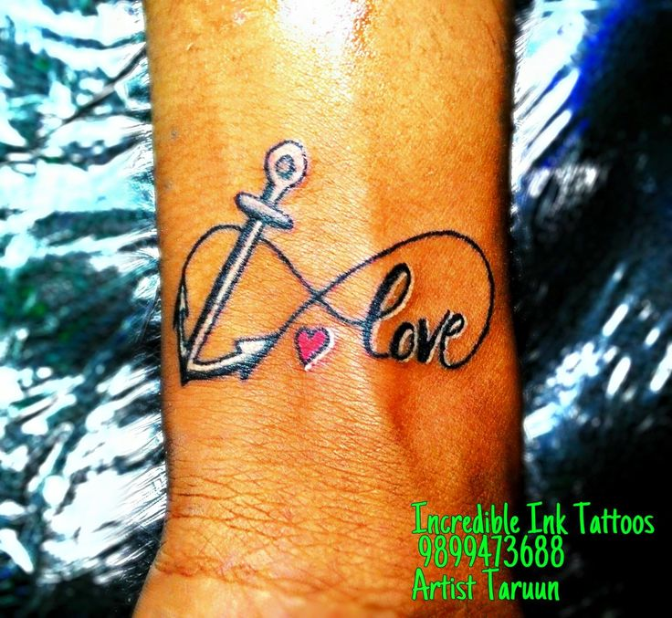 Infinity Anchor tattoo on wrist