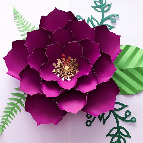 PDF Paper Flower Template DIGITAL Version  The Temple