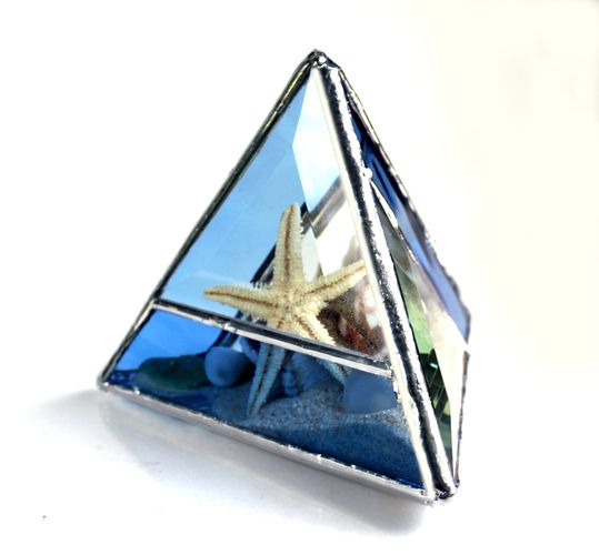 Seaside Stained Glass Pyramid Beachscape. Starting at $1 on Tophatter.com!