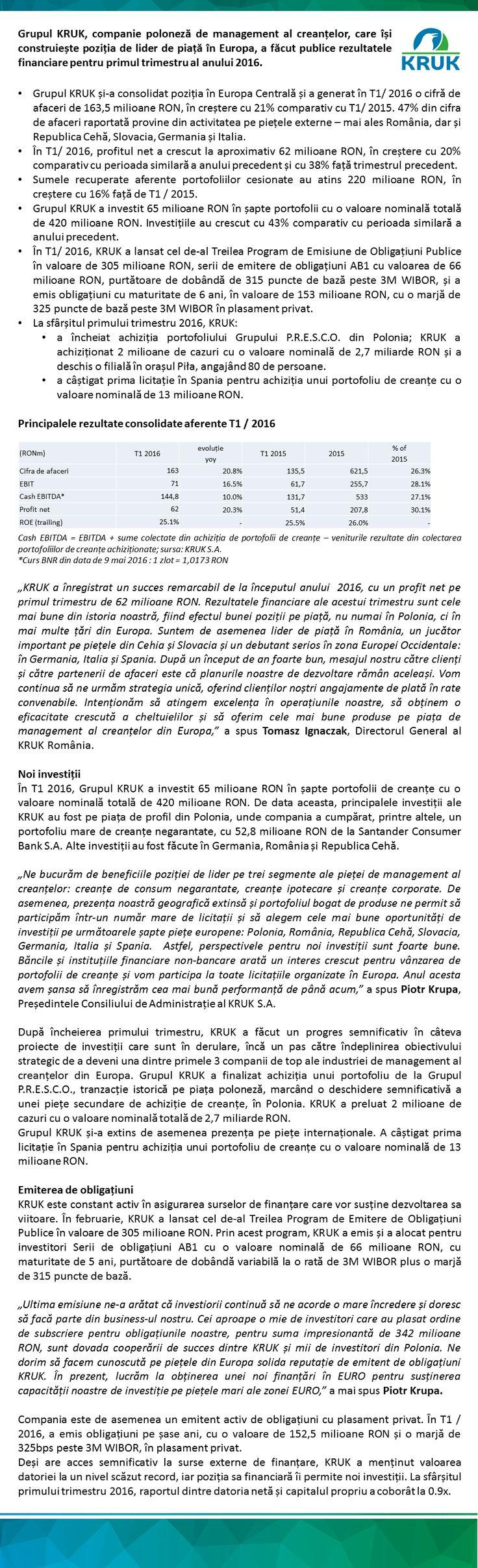 Mai multe detalii se pot obtine de aici: http://ro.kruk.eu/download/gfx/kruk/ro/defaultmultilistaplikow/47/53/1/grupul_kruk_raporteaza_un_profit_net_de_aproximativ_62_milioane_ron.docx