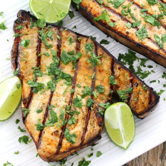 Cilantro-Lime Grilled Swordfish