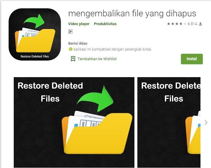 Cara Mengembalikan File Yang Terhapus Di Android Tanpa Root Android Penghapus Video