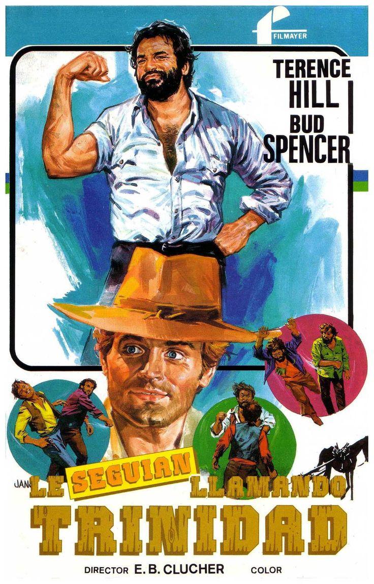 COLECCIÓN DE CARTELES ANTIGUOS DE CINE- Le seguían llamando Trinidad 1971, con Terence Hill y Bud Spencer