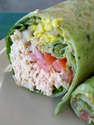 Cowboy Chicken and Corn Wraps