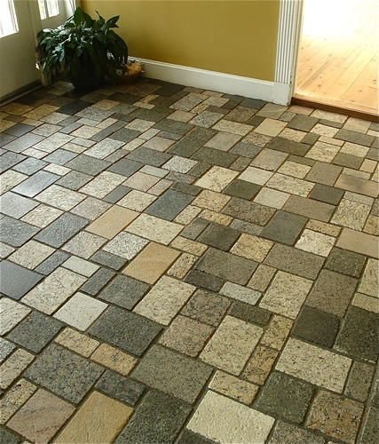 Recycled granite flooring by Earth Stone Products