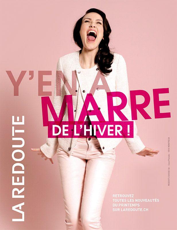 Annonce-presse pour La Redoute Suisse - http://lune.fr
