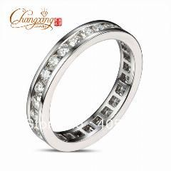 [ $88 OFF ] Solid 14K White Gold Channel 1.50Ct Diamond Engagement Wedding Band Ring