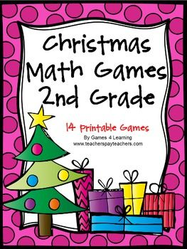 Christmas+Math+Games+Second+Grade+by+Games+4+Learning+for+bringing+some+fun,+Christmas+math+into+the+classroom.+  This+collection+of+Christmas+math+games+contains+14+printable+games+that+review+a+variety+of+second+grade+skills.+These+games+are+ideal+as+math+center+games.