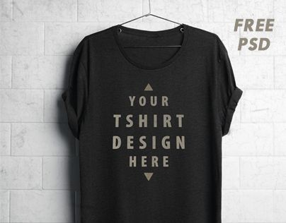 Consulter ce projet @Behance: «Free Realistic Hanging T-Shirt Mockup PSD» https://www.behance.net/gallery/25637131/Free-Realistic-Hanging-T-Shirt-Mockup-PSD
