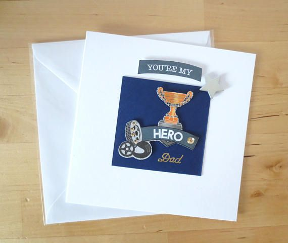 You're my Hero Dad Father's Day card Dad fathers