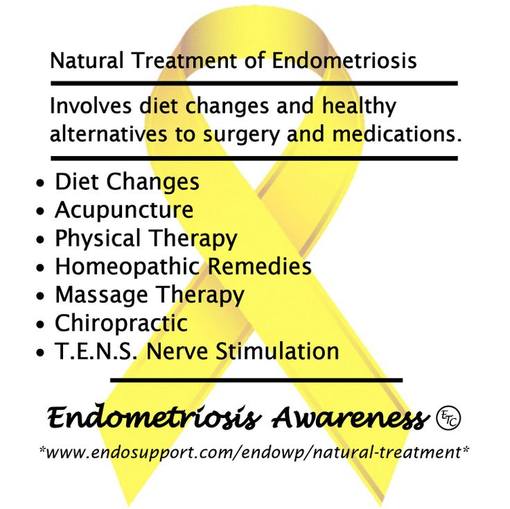 Natural treatment of #Endometriosis involves diet changes and healthy alternatives to surgery and medications. • Diet Changes •Acupuncture •Physical Therapy •Homeopathic Remedies •Massage Therapy •Chiropractic •T.E.N.S. Nerve Stimulation #EndoDidYouKnow #EndoAware #EndoAwareness #EndometriosisAwarenessMonth #EndoAwarenessMonth #EndoTwinCities #EndoMarch2014 #EndoSisters For more info: www.endosupport.com/endowp/natural-treatment