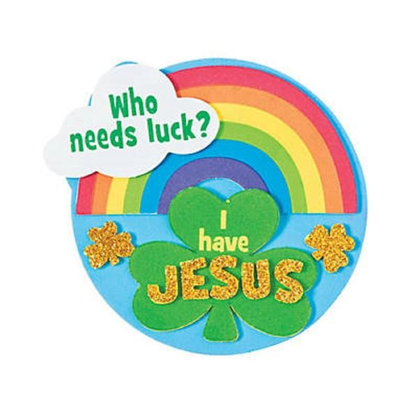 Who needs luck when you have Jesus? This Religious Luck Magnet Craft Kit is a great activity for VBS, Bible camp, children's church or Sunday School.• Material: