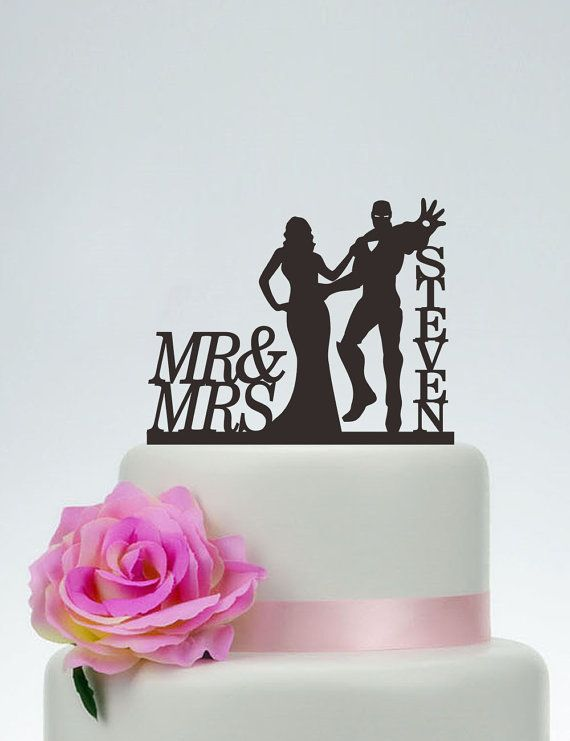 Iron Man Cake Topper Wedding Cake TopperMr by SpecialDesignForYou