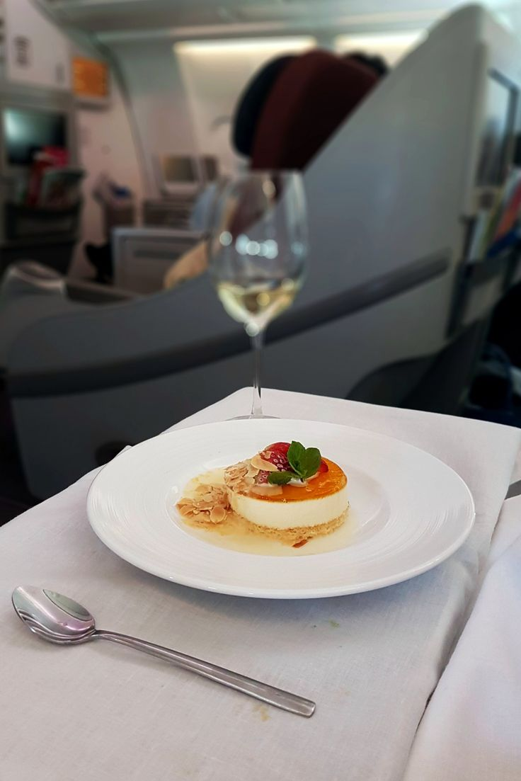 """Panna Cotta"", In Flight Garuda Indonesia, Melbourne - Jakarta"