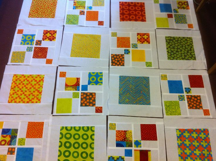 Impromptu quilt as blocks. Shows construction nicely.