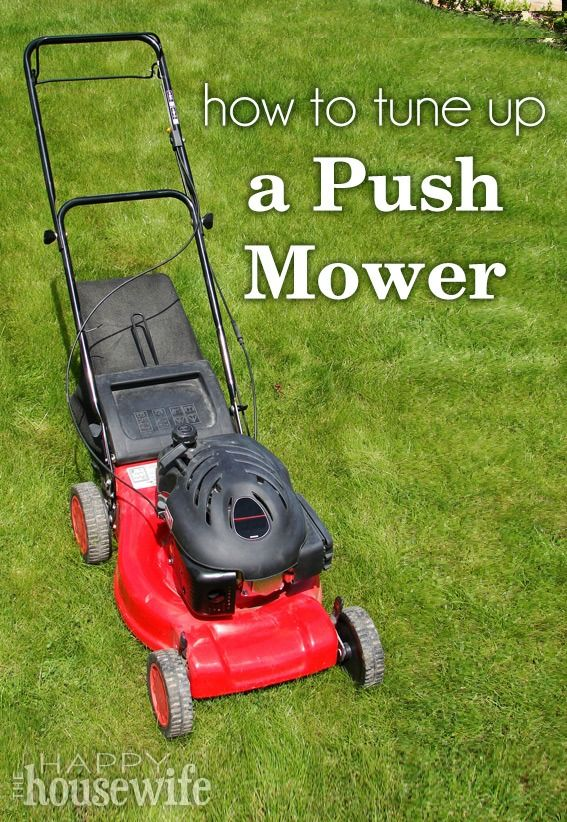 How to Tune Up a Push Mower | The Happy Housewife
