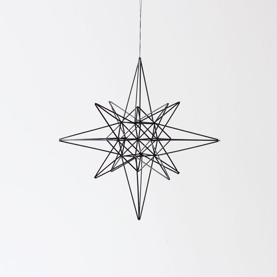 moravian star style himmeli / hanging mobile / modern by AMradio, $97.00