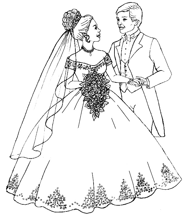 49 best Bride coloring pages images on Pinterest | Coloring pages ...