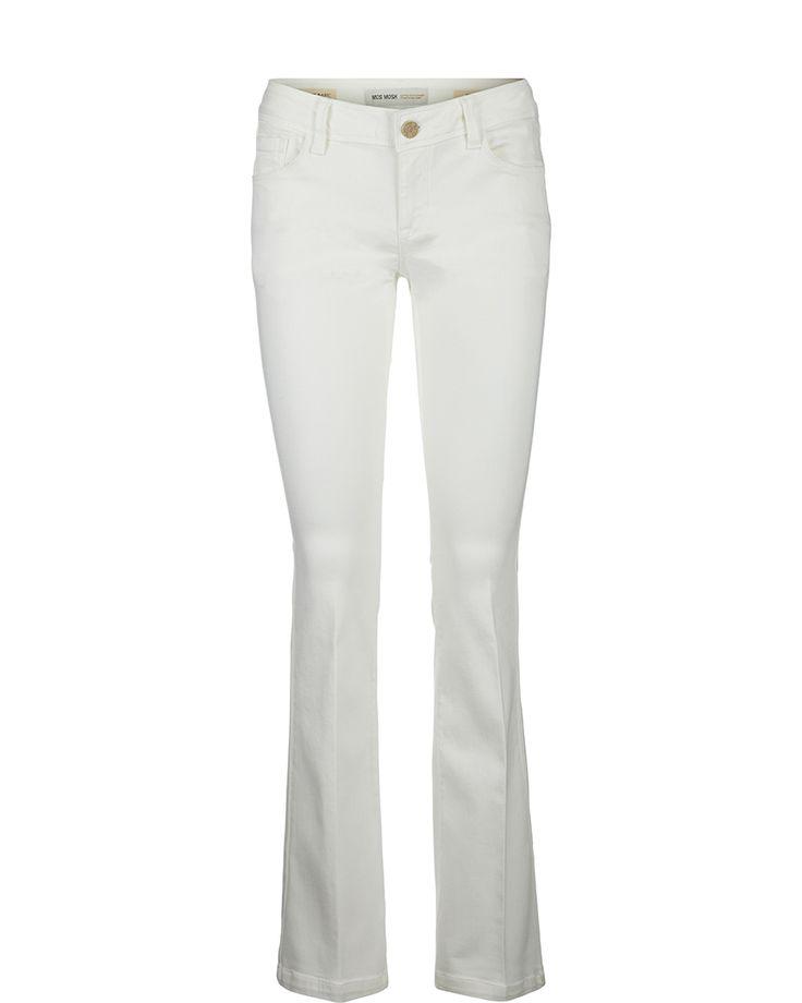 MOS MOSH // Athena Flare White Jeans.