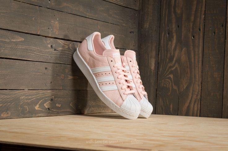 sports shoes b8f91 35531 adidas Superstar 80s W Icey Pink  Ftw White  Ftw White za skvělou cenu 2  990 Kč koupíte na Footshop.cz   pastelově barevné boty   Adidas superstar,  ...