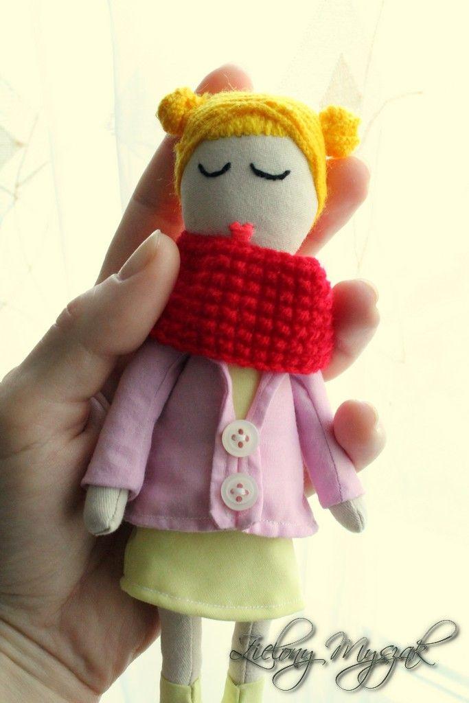 Zielony Myszak: 53. Frania #doll #handmade #dolls