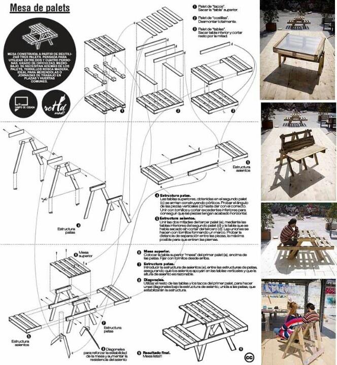 M s de 1000 ideas sobre planos para mesa de picnic en for Planos de muebles de madera pdf