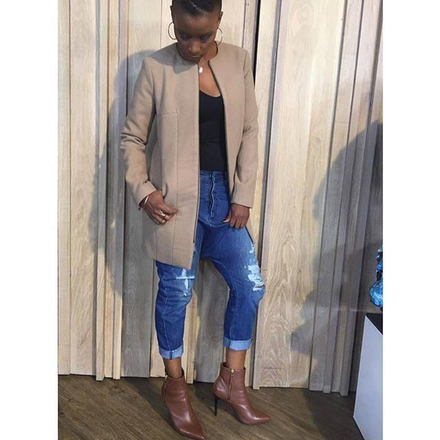 The stunning #BonnieMbuli in her #Nicci jeans