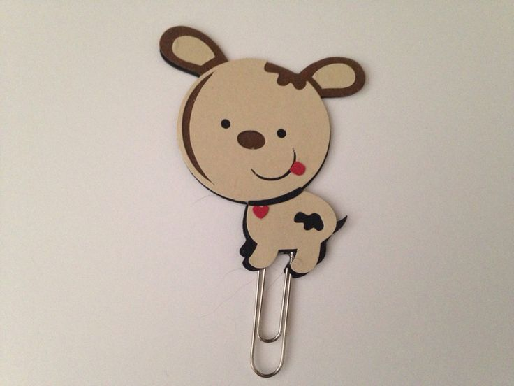 Puppy Planner Clip | Puppy Dog Paper Clip | Planner Clip by CleverDesignCharms on Etsy