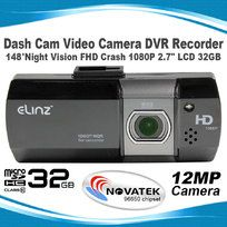 "Dash Cam Video Camera DVR Recorder 148°Night Vision FHD Crash 1080P 2.7""LCD 32GB"
