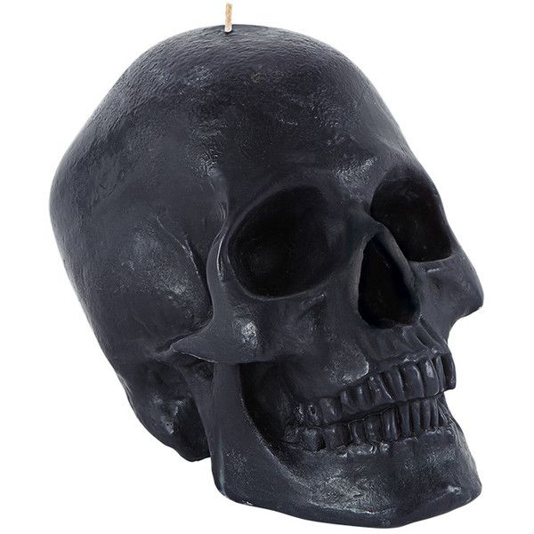 Black Skull Candle found on Polyvore
