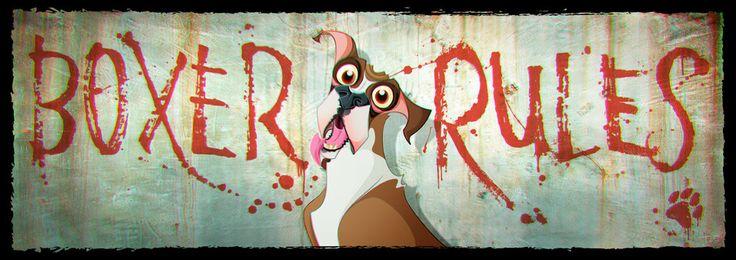 Boxer rules... Sí, señor!!! Illustrator, Photoshop CC/ Wacom Bamboo pen & touch.