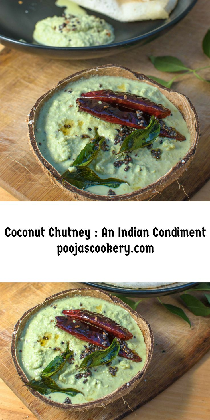 Coconut chutney is one of the most famous Indian condiments, which goes well with any South Indian food like dosa, idli, uttappa.