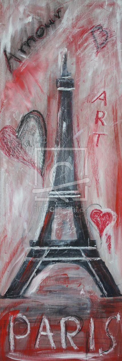 Paris als Leinwand von Bässler Christine erhältlich bei Fine Art Print | acrylmalerei malerei collage mischtechnik reise stadt der liebe und der kunst paris hauptstadt weltstadt metropole frankreich europa fine art malerei rot weiß holz dekoration poster wandbild schriftzug hommage eiffelturm herz fine art eiffel architektur baudenkmal kunst wandbild dekorativ abstrakt zeichnung kunst text amour tutticelle bässler