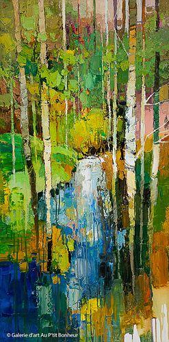 Iosif Derecichei, 'Glowing Stream', 30'' x 60''   Galerie d'art - Au P'tit Bonheur - Art Gallery