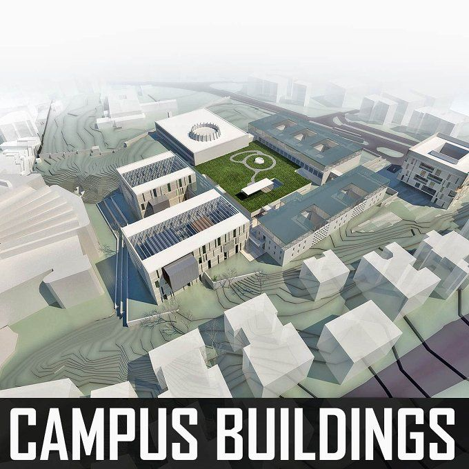 Campus Buildings Set by monogroup