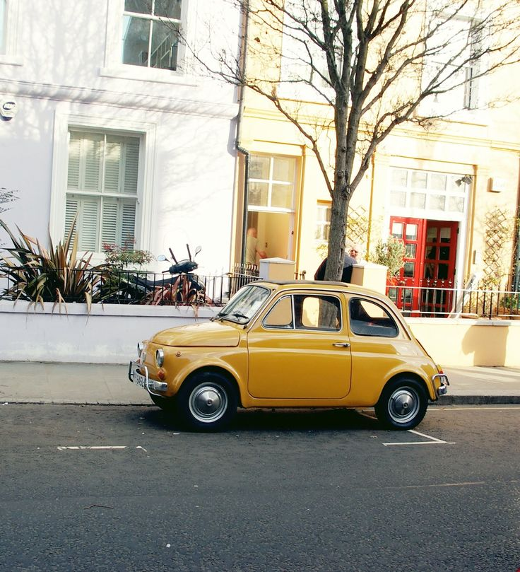 I want this little car! It's the perfect color.
