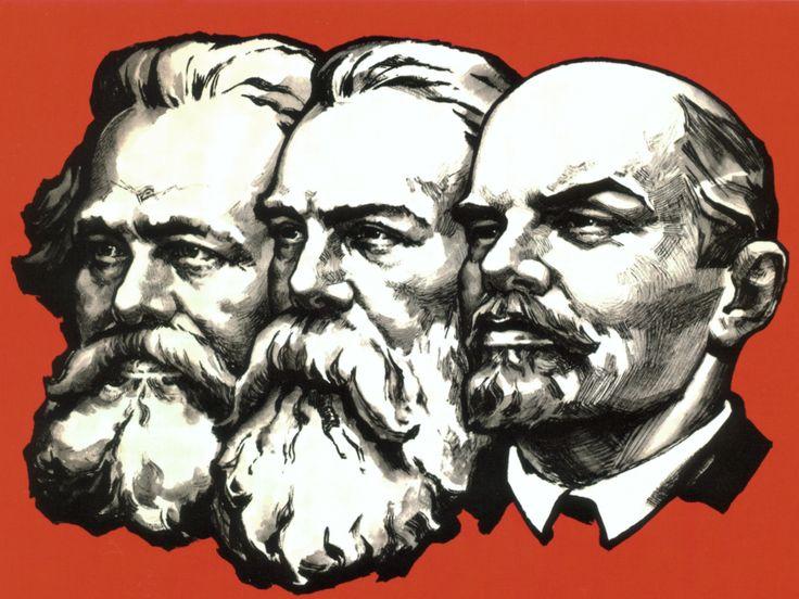 Karl Marx, Frederick Engels and Vladimir Ilyich Lenin.