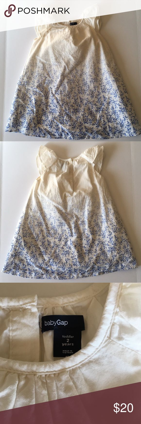 Baby Gap Dress Little blue flower Baby Gap dress   Worn and washed  No bloomers  Size 2 years Smoke free home GAP Dresses Casual