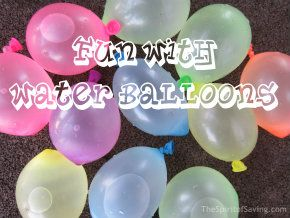 Many games and activities to do with water balloons!