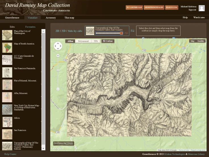 David Rumsey Historical Map Collection   New application: Georeferencer