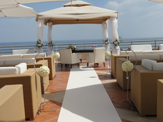 White wedding ceremony Algarve Portugal by Algarve Wedding Planners