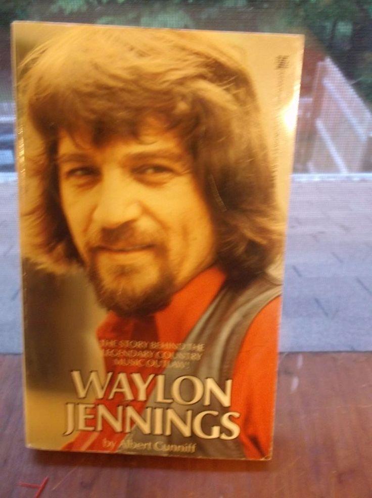 Vtg Paperback Waylon Jennings Albert Cunniff Country Music Legend