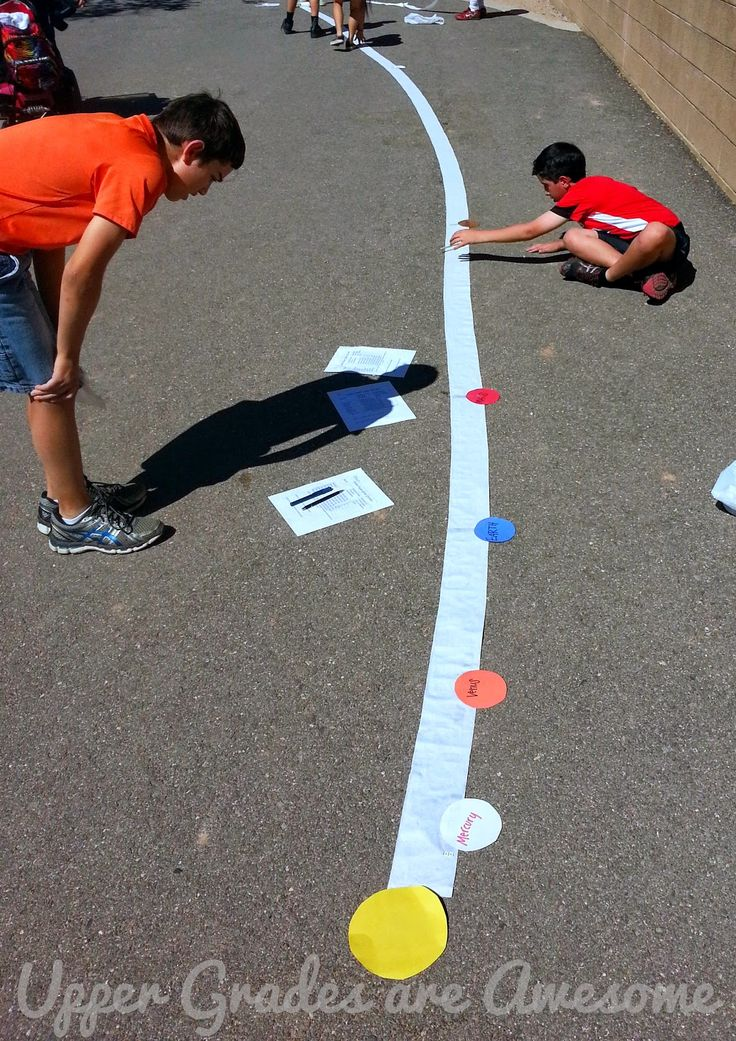 Use toilet paper and planet cut outs to really get a sense of each planet's distance from the sun.